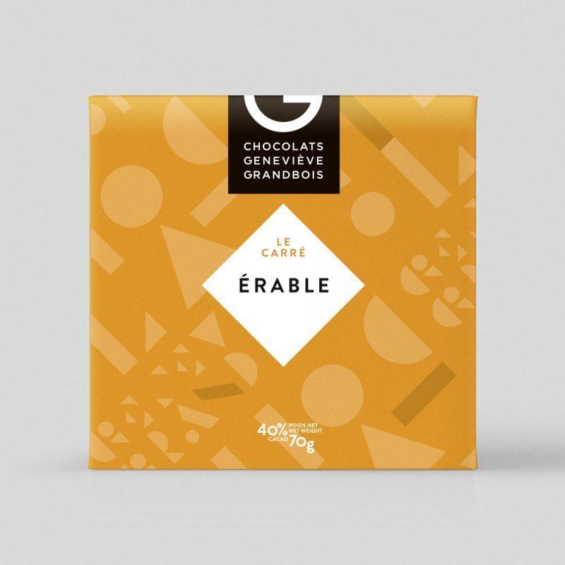 Carré à l'érable, Chocolat Geneviève Grandbois